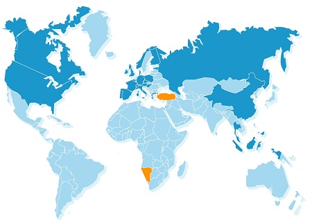 You have visited 13% of the countries in the world